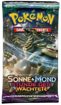 Pokémon Sammelkartenspiel - Sonne & Mond - Stunde der Wächter, Boosterpack