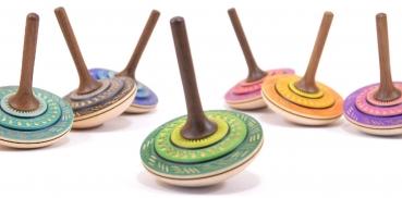 Fingerkreisel Bonbon 60mm 6 Farben zur Auswahl